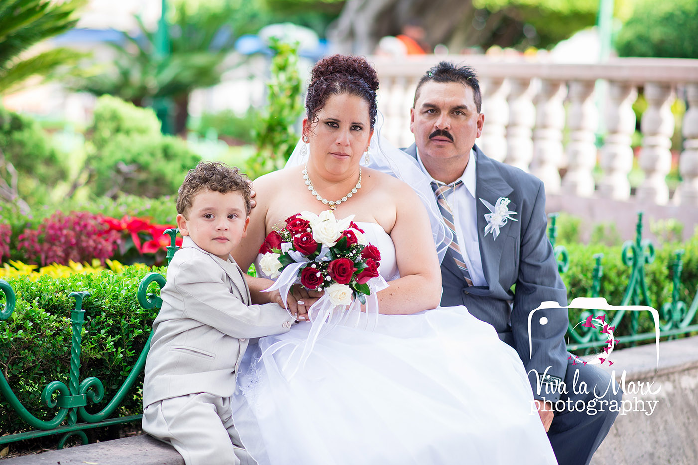 Catalina Jose and their first son, Demetrio. He got to be part of his parents wedding!