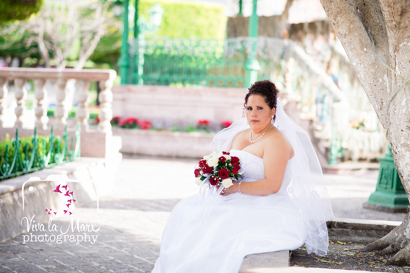 Catalina, posing on her wedding day. Catalina got to marry in her hometown of Santiago Maravatio, Guanajuato, she is originally from a town up in the mountain nearby, but this is the town that saw her grow up into an adult. Your wedding should describe you, with every detail you put into it.
