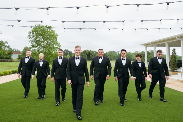 Groomsmen photos at the Farmhouse in Montgomery, Texas