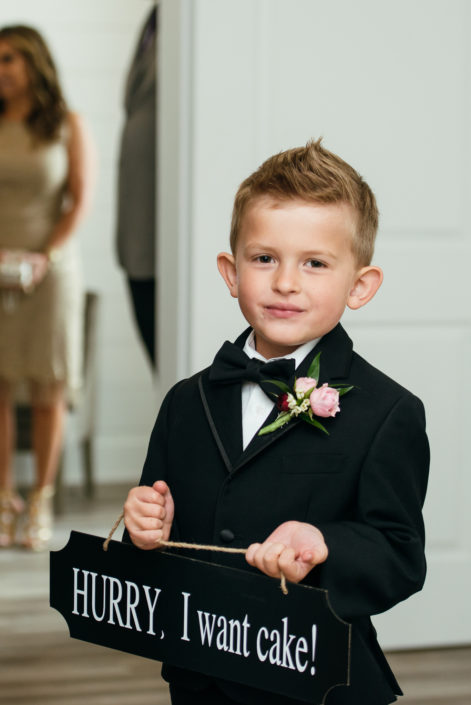 Ring bearer in the Farmhouse in Houston