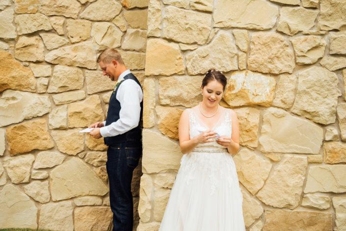 Red Ridge Wedding reading vows