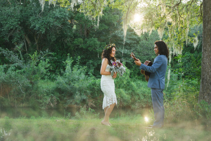 Marco and Catherine Bohemian Wedding in La Marque, Texas