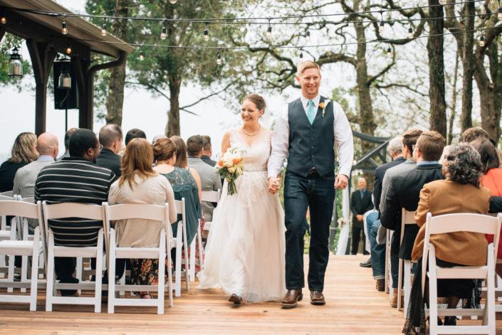 Red Ridge outdoor wedding Smithville, Texas