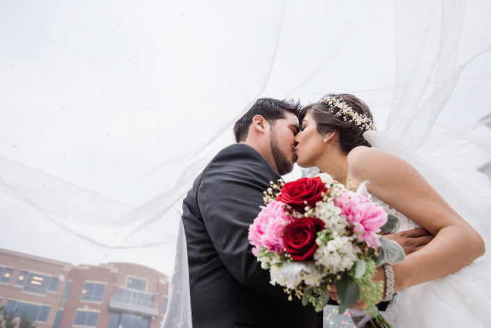 Sugarland Wedding with Long Veil