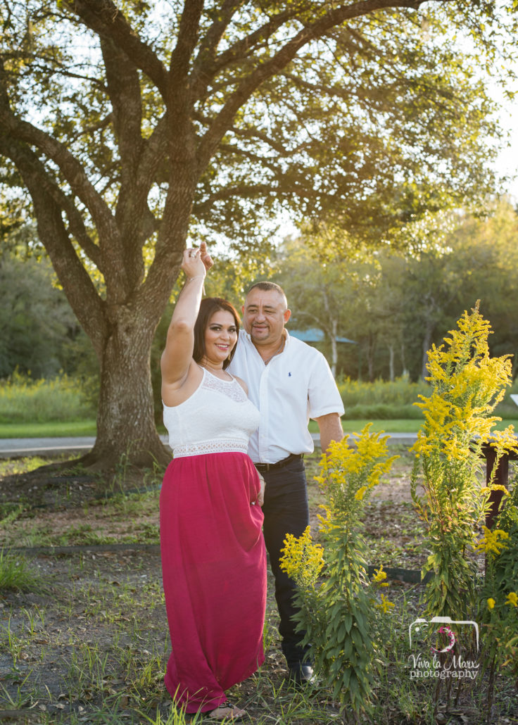 Twirling in Autumn Engagement Session Houston