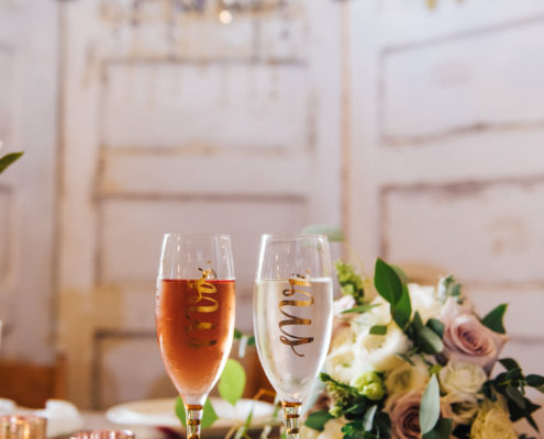 Toast glasses at Houston Wedding