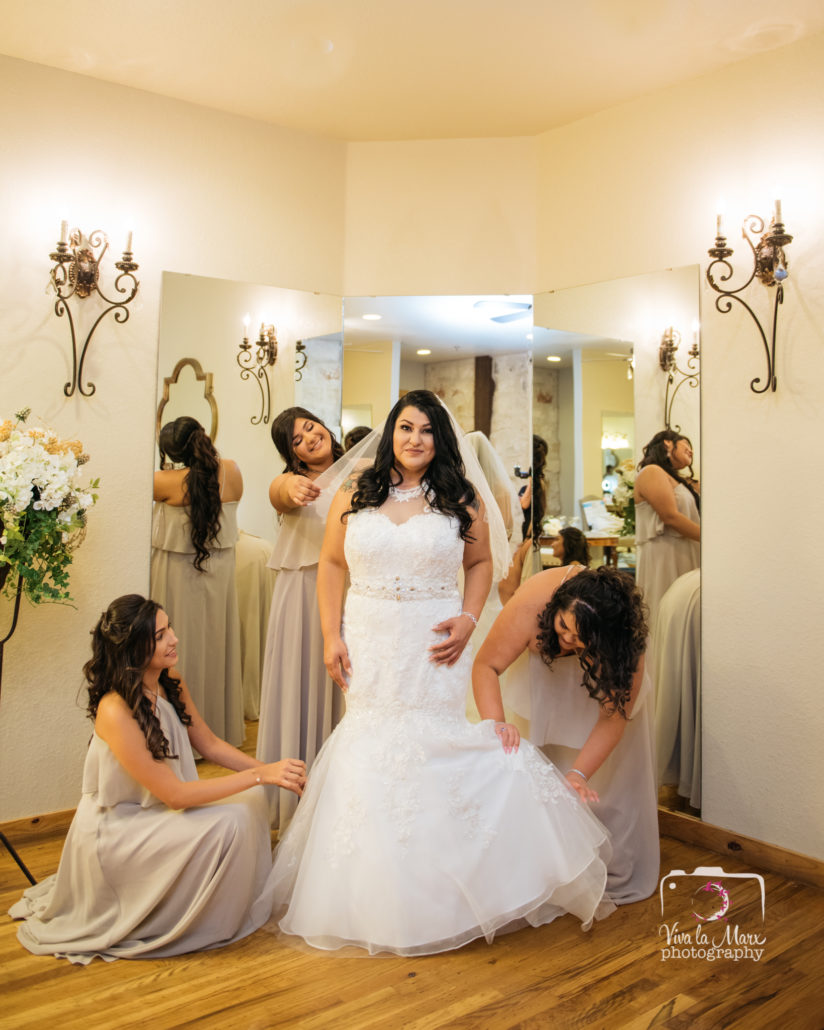 Bride Getting Ready at The Springs Event Venue in Angleton, Texas