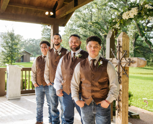 Groomsmen wedding portraits Houston Wedding