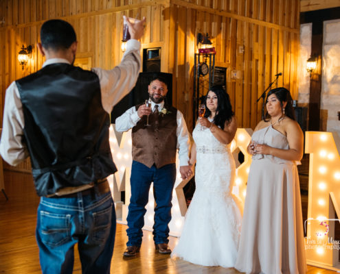 Bestman toasting during his speech at The Springs Event Venue