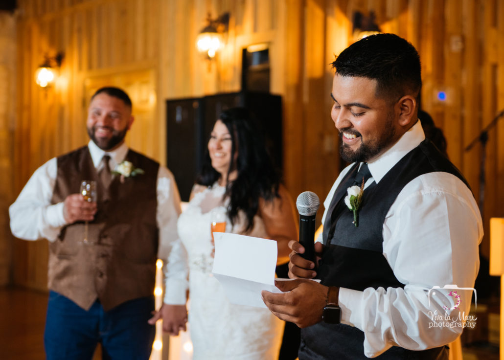 Written speech by bestman at The Springs Event Venue