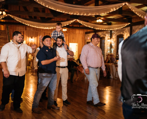 Catching the garter at The Springs Event Venue Angleton