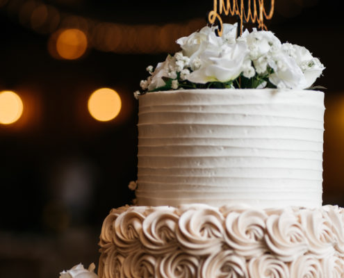 Wedding Cake details at The Springs Event Venue in Angleton, Texas