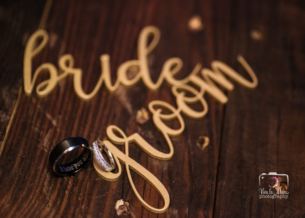 Creative bride and groom ring photography