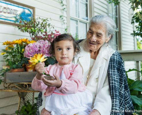 Grandmother with her grand daughter