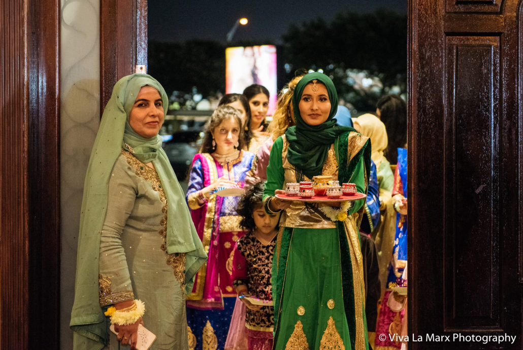 Entrance of the bride at Houston Pakistani Wedding