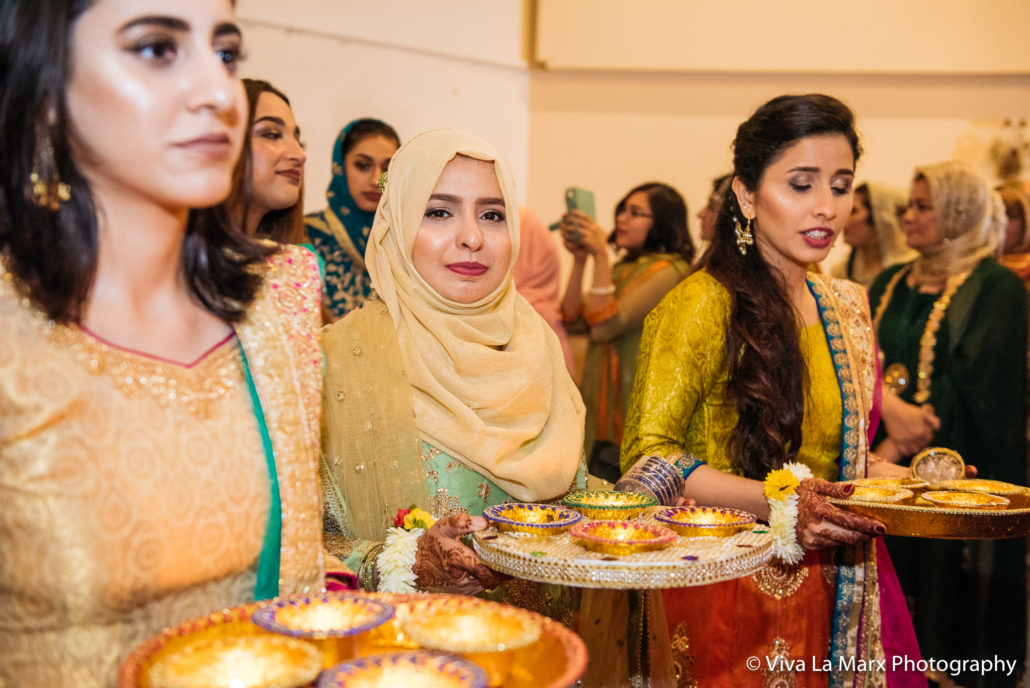 Processional before bride enters Pakistani Wedding
