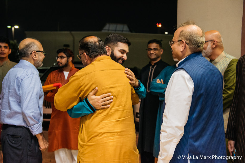 Groom before entering Houston Pakistani Wedding