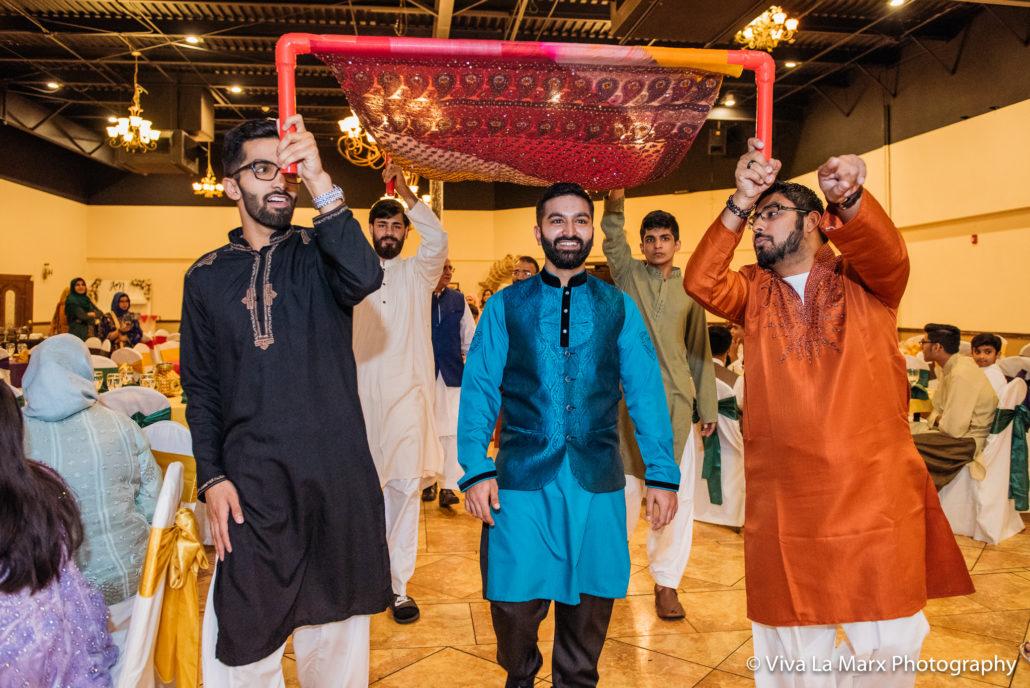 Groom looking at his bride Houston Pakistani Wedding