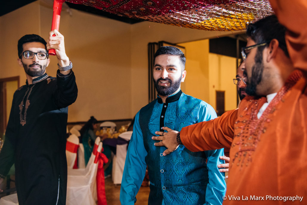 Groom seeing his bride Pakistani Houston Wedding