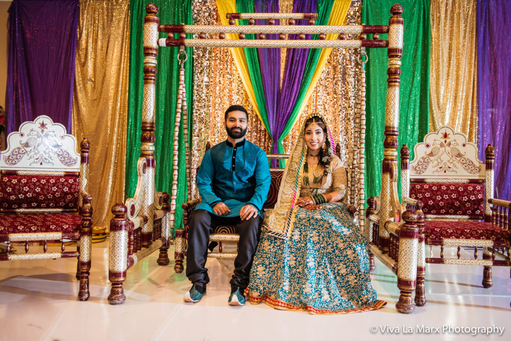 Pakistani bride and groom Houston Wedding