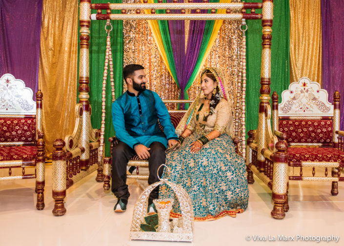Pakistani Wedding in Houston the bride and the groom
