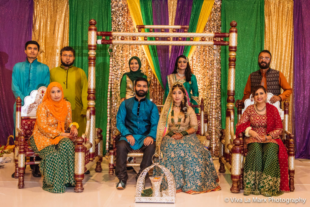 Family portrait at Houston Pakistani Wedding
