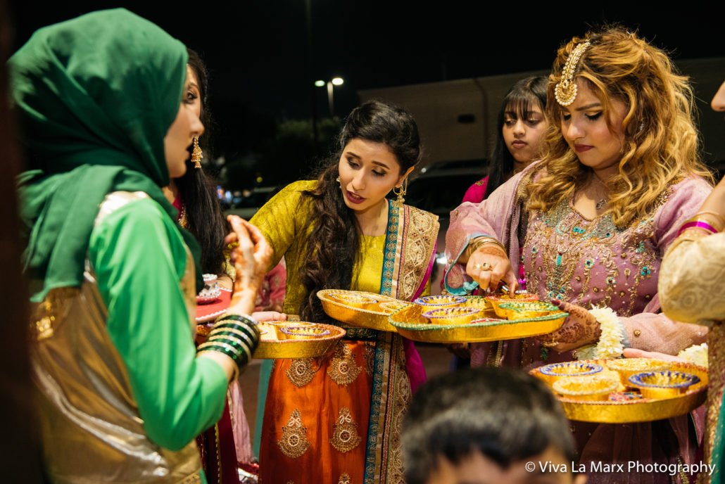 Houston Pakistani Wedding lighting candles