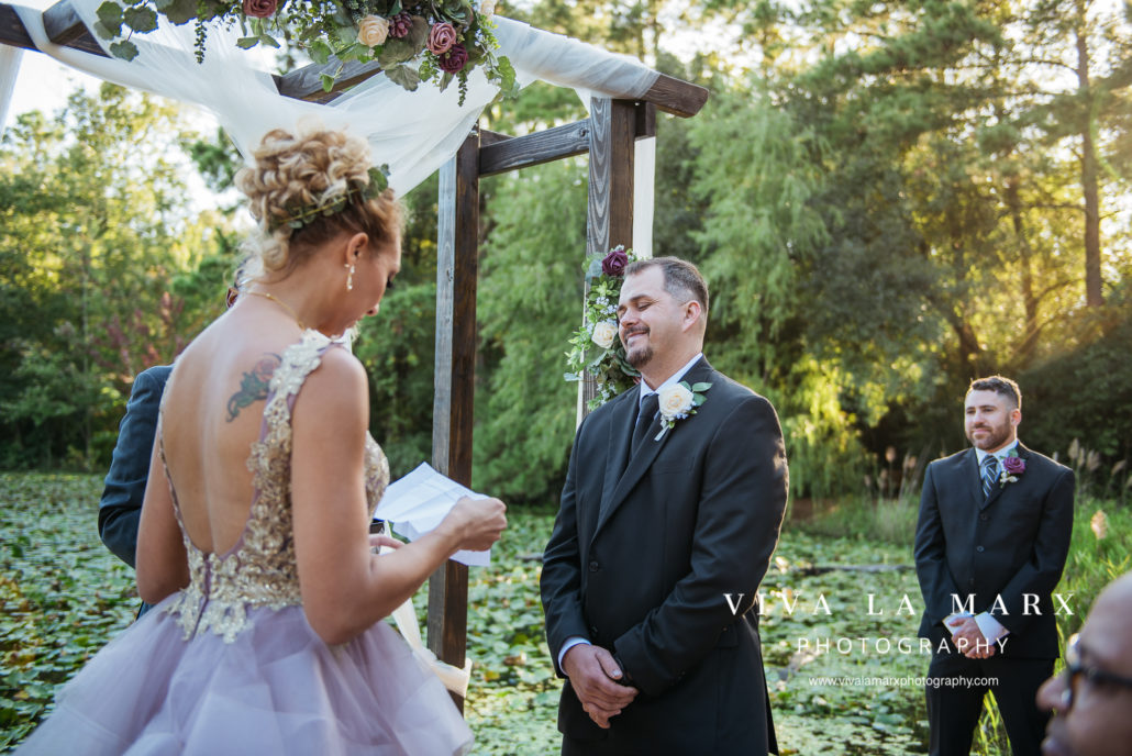 Vows at Small Wedding in Houston